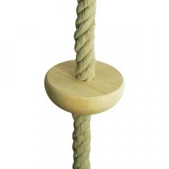 Mászókötél fa lépőfokokkal, 27mm