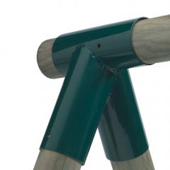 Hintaösszekötő elem, kerek, 80/100 mm